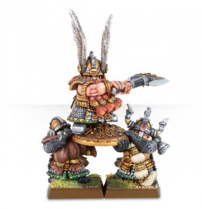 Dwarf King Alrik and Shieldbearers